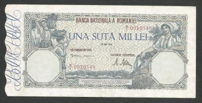 ROMANIA  100000  100.000 LEI  28  MAI  1946   [4]   XF foto