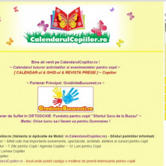 Site de publicitate - CalendarulCopiilor.ro