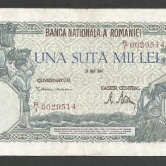 ROMANIA  100000  100.000 LEI  28  MAI  1946   [12]   VF+