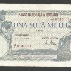 ROMANIA  100000  100.000 LEI  28  MAI  1946   [20]   VF
