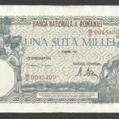 ROMANIA  100000  100.000 LEI  21  OCTOMBRIE  1946   [4]   VF