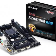 Placa de baza GIGABYTE Socket FM2+, F2A68HM-DS2, AMD A68H, 2*DDR3 2400 (OC)/2133/1866/1600/1333, DVI, VGA, 1*PCIEx16, 1*PCIEx2.0, 1*PCIEx, 4 bulk, Pentru AMD, MicroATX