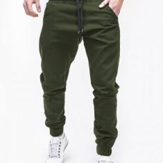 Pantaloni barbati P205, model NOU, Marime: S, M, L, XL, XXL, Culoare: Verde, Lungi, Bumbac