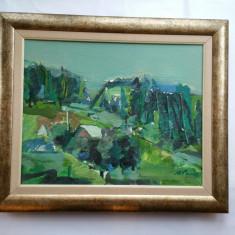 MARCEL  PAVEL - pictor , grafician  (artist ) iesean - peisaj - ulei / pînza