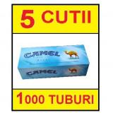 5 x CAMEL CU CARBON ACTIV 200 tuburi pentru injectat tutun, filtre tigari - Foite tigari