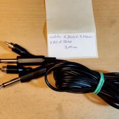 Cablu 2 Jack 6.3 Mono - 2 RCA Tata 3, 00 m
