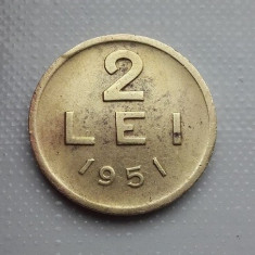 2 lei 1951 cupru alama moneda mai rara Romania numismatica bani vechi monezi - Moneda Romania