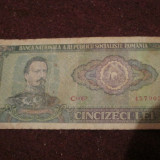 Bacnota 50 lei - Bancnota romaneasca, An: 1966
