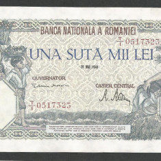 ROMANIA 100000 100.000 LEI 28 MAI 1946 [2] XF+ - Bancnota romaneasca