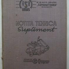 Combina C1 tip 59 - Notita Tehnica Supliment - Carti auto