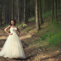 Rochie de mireasa model unicat, Delicate colectia 2016 - Rochie de mireasa printesa
