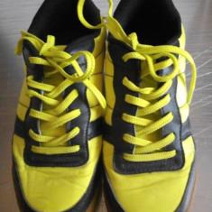 Tenisi/skate shoes negru cu galben neon - Tenisi dama, Culoare: Din imagine, Marime: 37.5