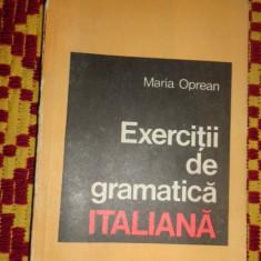 Exercitii de gramatica italiana an 1969/175pag- Maria Oprean - Curs Limba Italiana