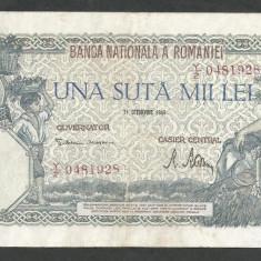 ROMANIA  100000  100.000 LEI  21  OCTOMBRIE  1946   [3]   VF