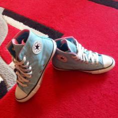 Converse All Star originali, high top, marimea 34-21 cm. - Tenisi dama Converse, Culoare: Albastru, Textil