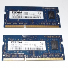 Kit memorie 4 Gb DDR3 Laptop (2 x 2 Gb) Elpida PC3-12800S / Dual Chanell - Memorie RAM laptop Elpida, 1600 mhz, Dual channel