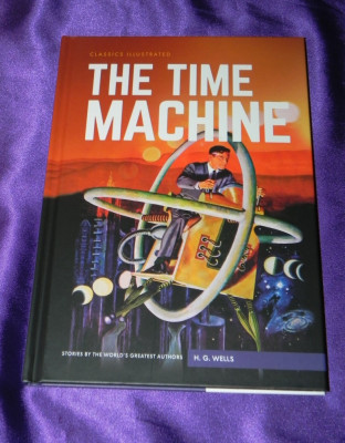 The time machine Masina timpului classics illustrated  engleza H G Wells (f0611 foto