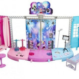 Set de joaca Scena transformabila Barbie Rockstar Princess