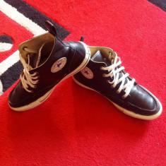 Converse All Star originali, high top, piele naturala, nr.42, 5-27, 5 cm. - Tenisi barbati Converse, Culoare: Negru