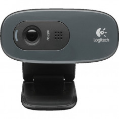Camera web Logitech C270, HD 720p, Logitech Fluid Crystal, Negru - Webcam