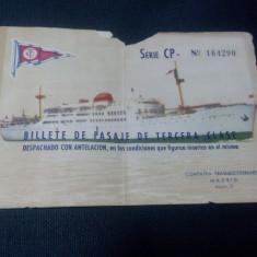 Bilet pt vas de croaziera 1911 ???