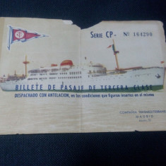 Bilet pt vas de croaziera 1911 ??? - Bilet Loterie Numismatica