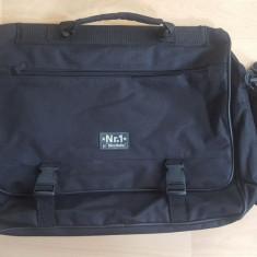 Geanta laptop multifunctionala, expandabila; 14 compartimente; impecabila - Geanta Barbati, Marime: Medie, Culoare: Din imagine