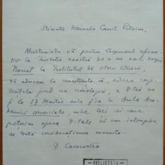 Scrisoare a lui Dumitru Caracostea, aroman, catre Camil Petrescu, 1935, aromani - Autograf