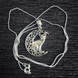 Pandantiv argint Pisică pe lună - Pandantiv fashion