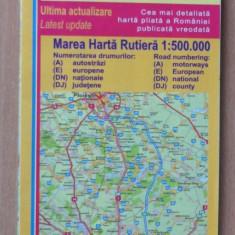 Marea harta auto/rutiera Romania auto express - Harta Rutiera