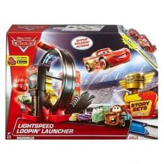 Pista Lansator Lightspeed Loopin' Story Set Cars - Masinuta Mattel