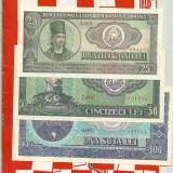 LOT-Bancnote 1966-100, 50, 25 10, 5, 3, 1 lei -UNC mai putin 3 lei - Bancnota romaneasca