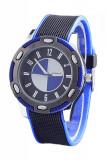 Ceas model sport WOMAGE BMW curea silicon moale BLUE + ambalaj cadou, Quartz