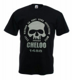 Tricou Cheloo Parazitii Suma Defectelor,LTricou Fruit of the Loom, L, Negru