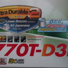 Kit Gaming Gigabyte 770T-D3L + Amd FX4100 Quad Core + 8 gb ddr3 HyperX Fury - Placa de Baza Gigabyte, Pentru AMD, AM3, Contine procesor, ATX