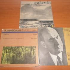 Lot 3 discuri muzica clasica-CHOPIN/CEAIKOVSKI/BRAHMS disc vinil LP vinyl pickup