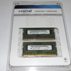 Ram laptop 2 x 2 Gb DDR3 / Crucial micron / PC3-12800S / in ambalajul original - Memorie RAM laptop Crucial, 4 GB, 1600 mhz, Dual channel
