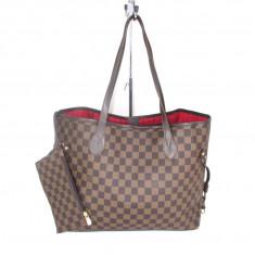 Geanta dama mare Louis Vuitton Neverfull cu portofel+CADOU, Culoare: Din imagine