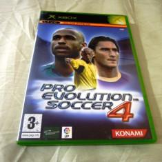 PES, Pro Evolution Soccer 4, xbox classic, original!