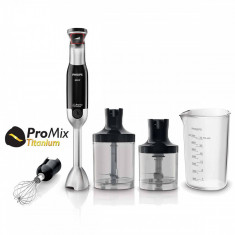 Mixer vertical Philips Avance Collection ProMix HR1673/90, 800 W, Speed Touch + Functie Turbo, Bol 1l, Tocator XL 1 l, Tel, Negru - Blender