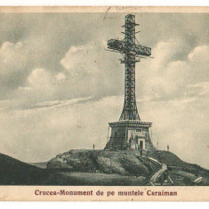 CPI (B8021) CARTE POSTALA - CRUCEA MONUMENT DE PE MUNTELE CARAIMAN - Carte Postala Transilvania dupa 1918, Circulata, Fotografie
