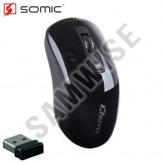 NOU ! Mouse Notebook Somic Xeiyo W708, Wireless, Black GARANTIE !!!, Optica, 1000-2000