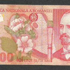 ROMANIA 100000 100.000 LEI 1998 [7] VF+ - Bancnota romaneasca