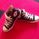 Converse All Star originali, high top, marimea 37, 5-24 cm. - Tenisi dama Converse, Culoare: Negru, Textil