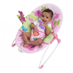 Balansoar Cu Vibratii Sweet Safari – Pretty In Pink - Balansoar interior Bright Starts