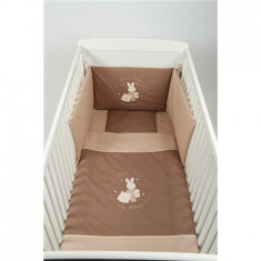 Lenjerie Bej Maro 3 Piese - Lenjerie pat copii BebeDeco