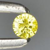BRILIANT_LOGODNA_diamant taiat briliant galben 0.14 ct ,SI