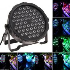 Proiector RGBW 54 LED Scaner joc lumini DMX control sunet Flat LED Par Light - Lumini club