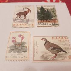 Grecia 1970 fauna-flora/ serie MNH - Timbre straine, Nestampilat