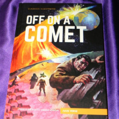 Off a comet Hector Servadac benzi desenate engleza classics illustrated (f0615, Jules Verne